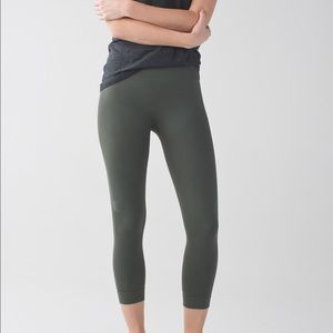 Lululemon Zone In Crop Gator Green